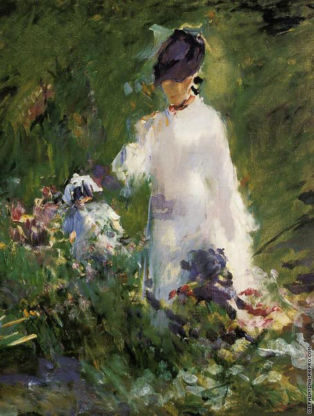 Young woman among the flowers* (Manet)