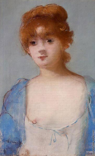 Young woman in a Negligee (Manet)