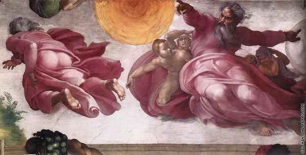 Creation of the Sun Moon and Plants (Michelangelo)