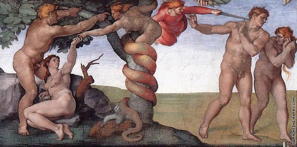 Fall and Expulsion from Eden (Michelangelo)