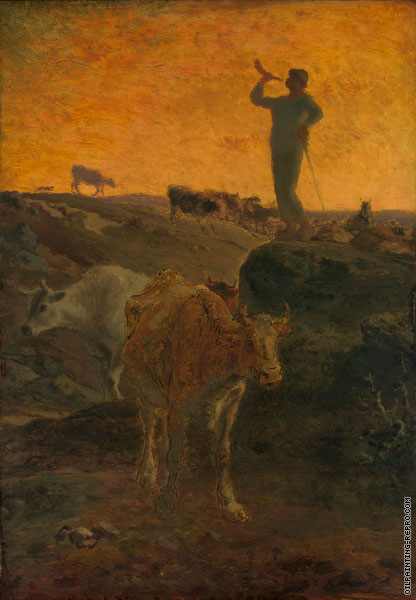 Calling the Cows Home (Millet)