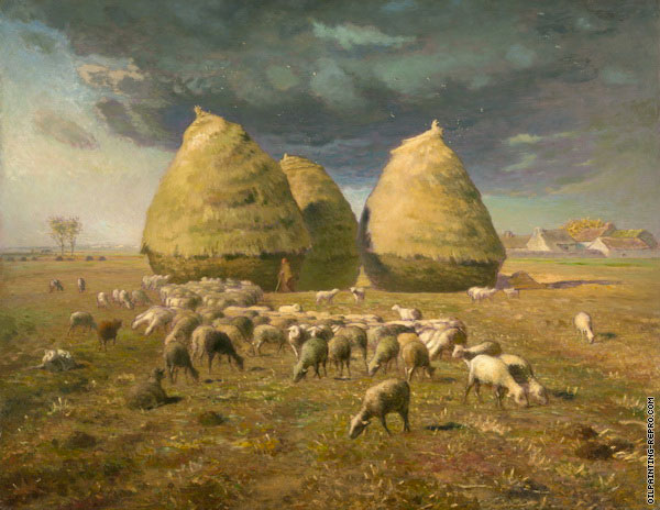 Haystacks Autumn (Millet)