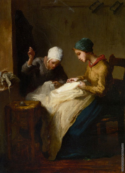 The Young Seamstress (Millet)