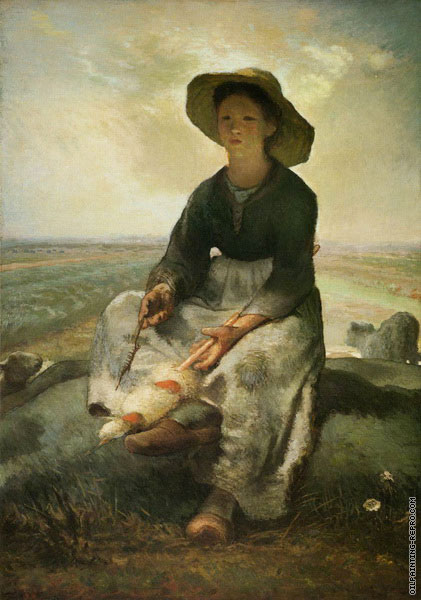 The Young Shepherdess (Millet)
