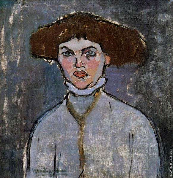 Head of a Young Woman (Modigliani)