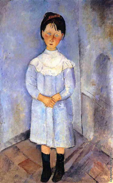 Little girl in blue (Modigliani)