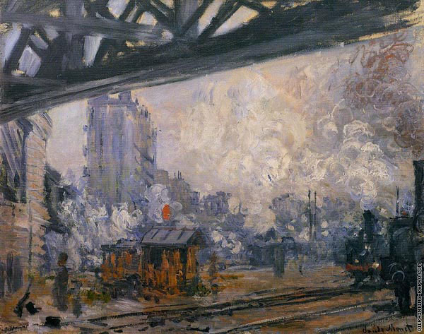 Exterior View of the Saint-Lazare Station (Monet)
