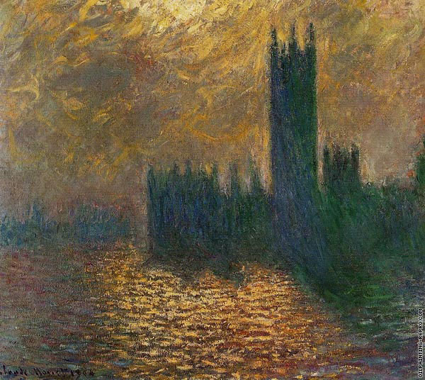 Houses of Parliament with Stormy Sky (Monet)