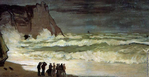 Rough Sea at Etretat (Monet)