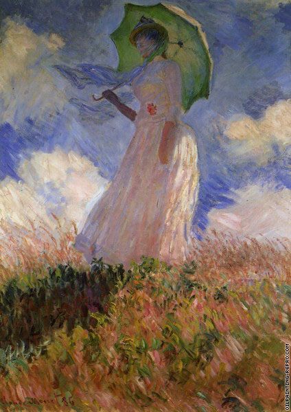 Woman with a Parasol facing right (Monet)
