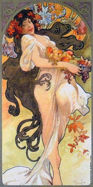 Chocolat Mexicain Masson - Autumn* (Mucha)