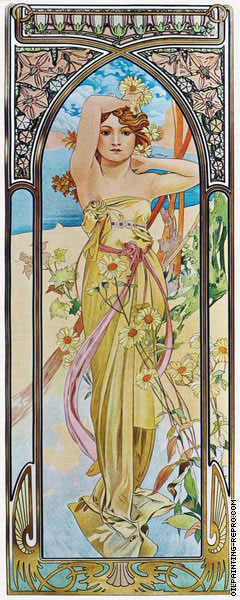 The Times of the Day - Brightness of Day (Mucha)