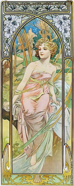 The Times of the Day - Morning Awakening (Mucha)