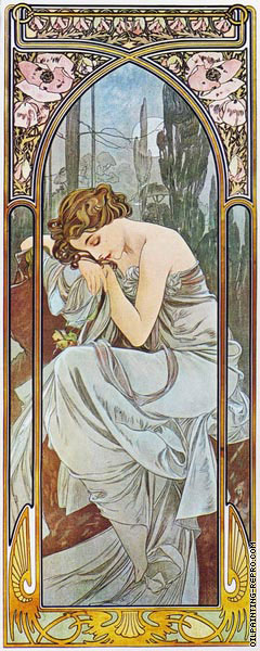 The Times of the Day - Night's Rest (Mucha)