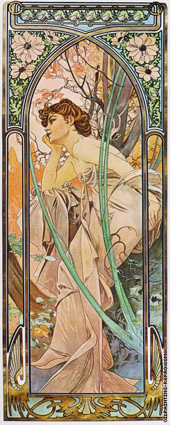 The Times of the Day - Evening Contemplation (Mucha)