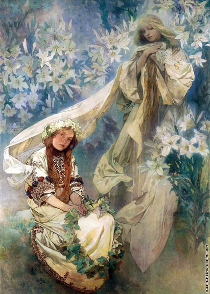 Madonna of the Lilies (Mucha)