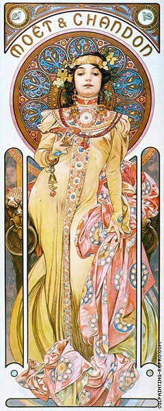 Moet and Chandon - Imperial (Mucha)