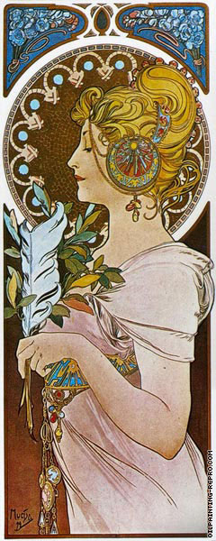 Panel - The Feather (Mucha)