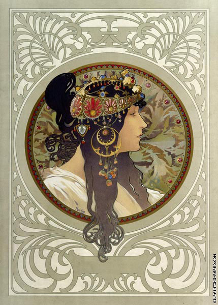 Byzantine Heads - The Brunette (Mucha)