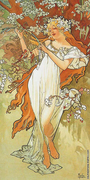 The Four Seasons - Spring (Mucha)