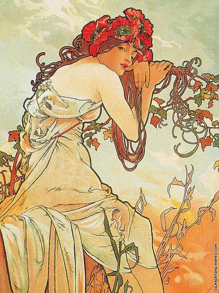 The Four Seasons - Summer* (Mucha)
