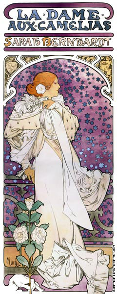 The Lady of the Camellias (Mucha)
