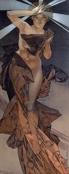 The Moon and The Stars - Morning Star* (Mucha)