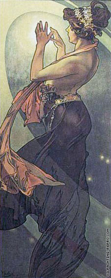 The Moon and The Stars - Pole Star* (Mucha)