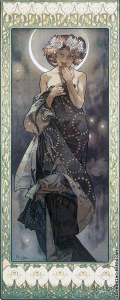 The Moon and The Stars - The Moon (Mucha)
