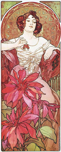 The Precious Stones - Ruby (Mucha)