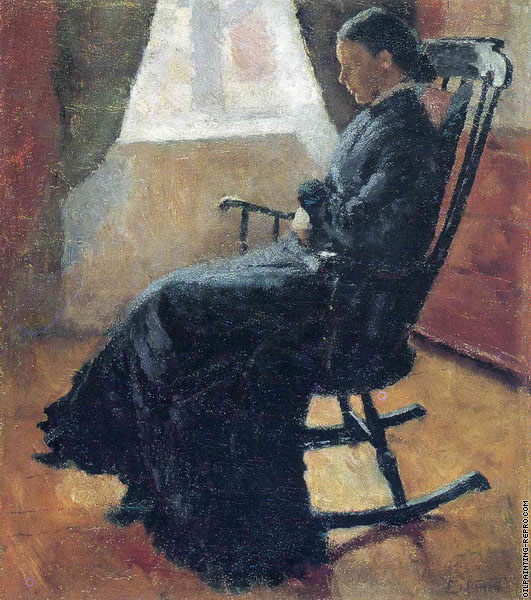 Aunt Karen in the Rocking Chair (Munch)