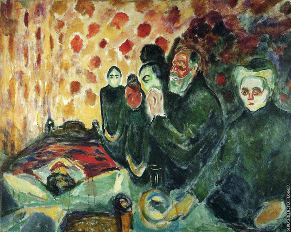 By The Deathbed (Munch)