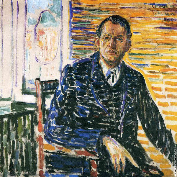 Self-Portrait at Professor Jacobson's Hospital (Munch)