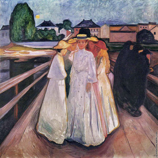 The Ladies on the Bridge (Munch)