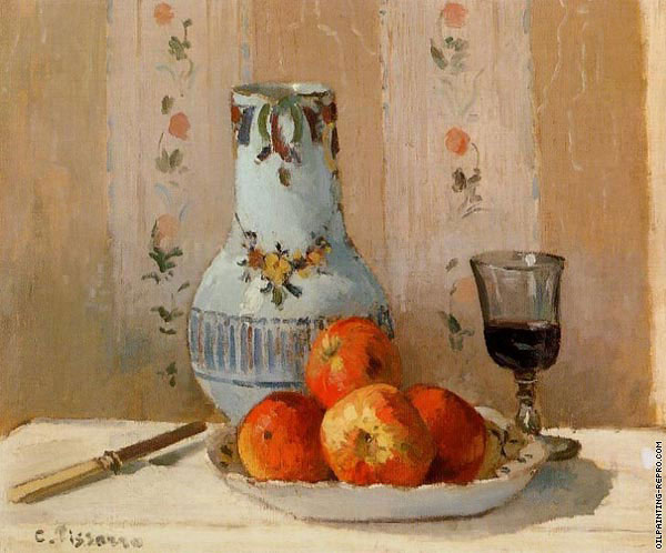 Still Life with apples and pitcher (Pissarro)