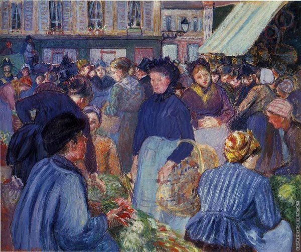 The market at Gisors I (Pissarro)