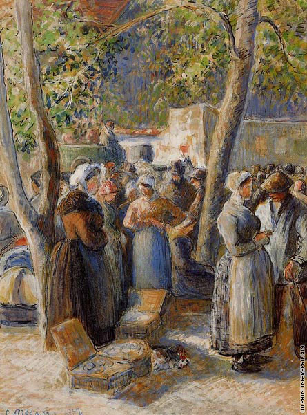 The market at Gisors II (Pissarro)