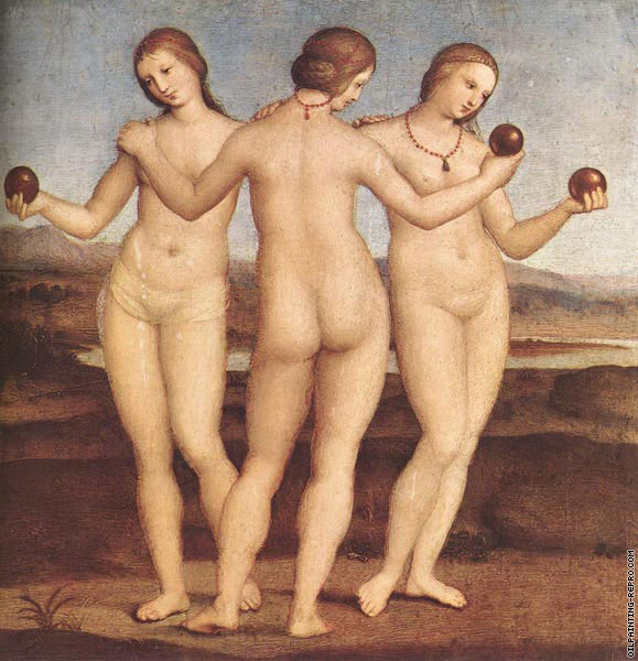 The three graces (Raffaello)