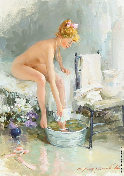A Young Woman Bathing (Razumov)