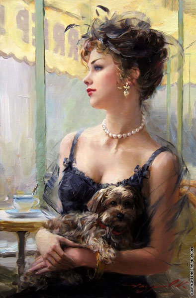 Elegant on the Terrace (Razumov)