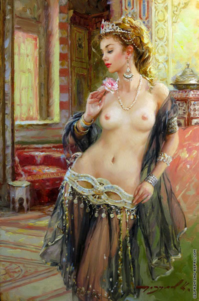Odalisque with a Rose (Razumov)
