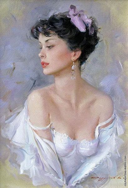 Portrait with White Dress (Razumov)