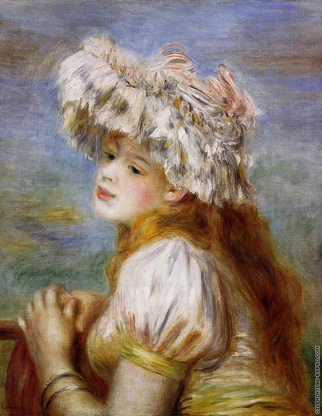 Girl in a Lace Hat (Renoir)