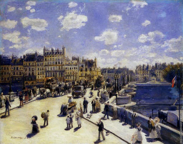 The Pont-Neuf in Paris (Renoir)