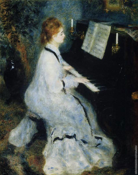 Young Woman at the Piano (Renoir)