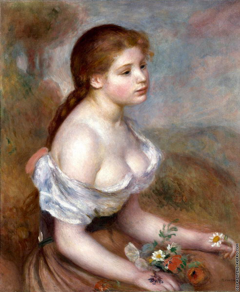 Authoritative Renoir girl with flowers answer