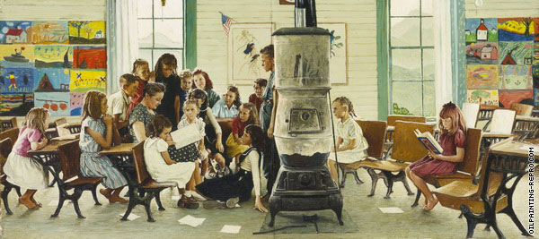Visits a Country School (Rockwell)