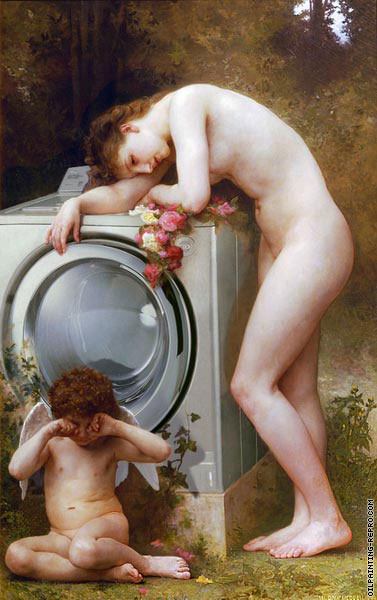 Pain of love without washing powder (After Bouguereau)