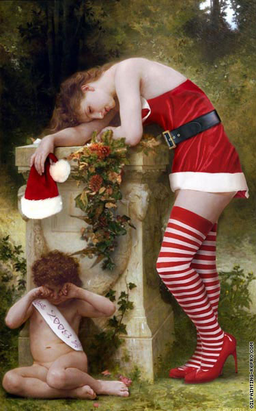 Pain of love without christmas (After Bouguereau)