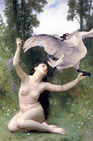 The flying of the sign (After Bouguereau)
